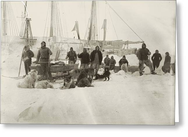 Nansen Greeting Cards - Nansen Prepares To Leave The Fram Greeting Card by National Library of Norway