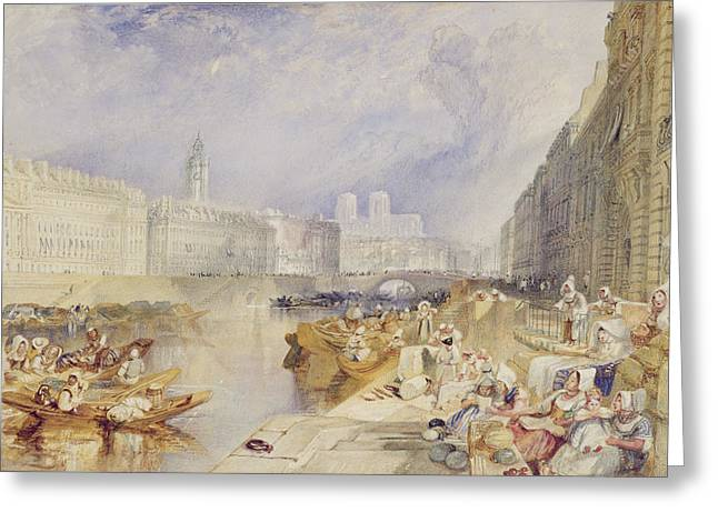 Canoe Greeting Cards - Nantes Greeting Card by Joseph Mallord William Turner
