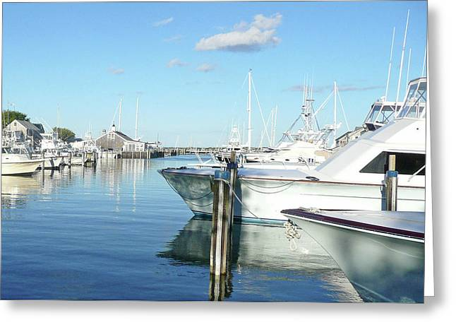 Becky Lodes Greeting Cards - Nantucket Harbor Greeting Card by Becky Lodes
