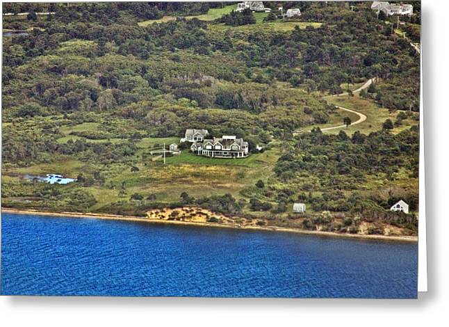 Pearson Aerial Greeting Cards - Nantucket Harbor House 2 Greeting Card by Duncan Pearson