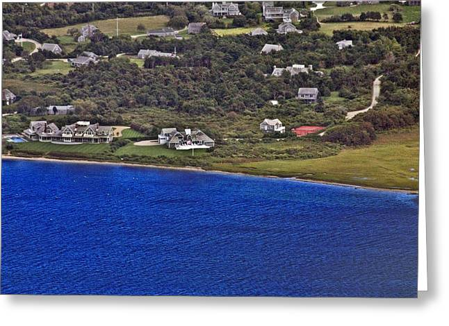 Pearson Aerial Greeting Cards - Nantucket Harbor House 4 Greeting Card by Duncan Pearson