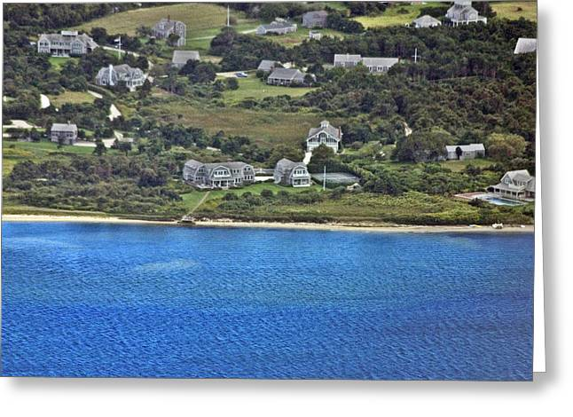 Pearson Aerial Greeting Cards - Nantucket Harbor House 5 Greeting Card by Duncan Pearson