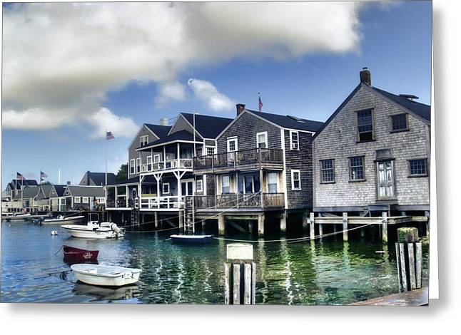 Ocean. Reflection Greeting Cards - Nantucket Harbor in Summer Greeting Card by Tammy Wetzel