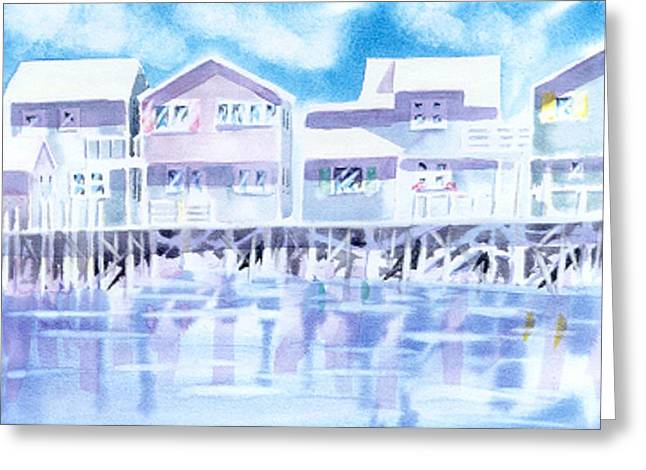 Cape Greeting Cards - Nantucket Reflections Greeting Card by Joseph Gallant