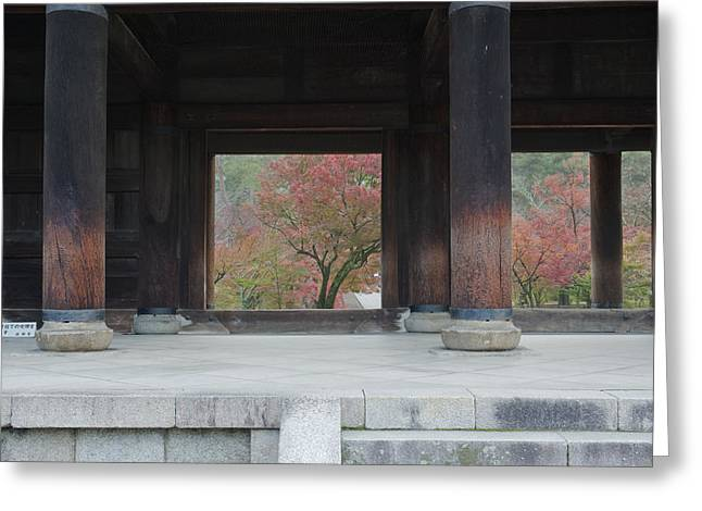 Kyoto Greeting Cards - Nanzenji Temple. Large Traditional Main Greeting Card by Rob Tilley