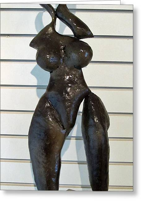 Handmade Sculptures Greeting Cards - Naomi Greeting Card by Dedo Cristina