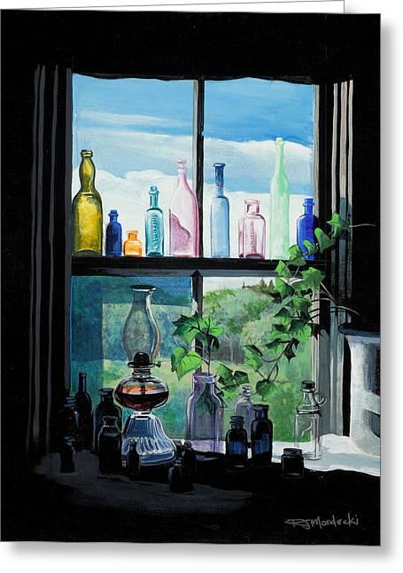 Naomi's Window Greeting Card by Richard Mordecki
