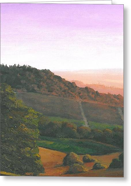 Napa Orchards Greeting Card by DC Decker