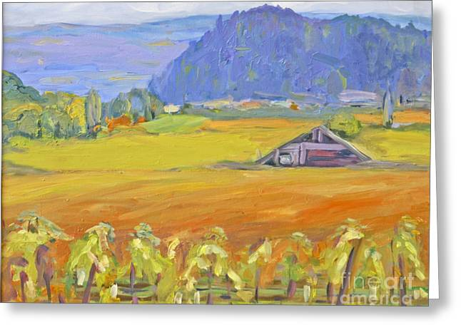 Napa Valley Mountains Greeting Card by Barbara Anna Knauf