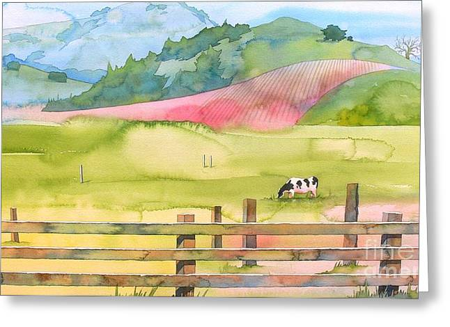 Sonoma Greeting Cards - Napa Valley Greeting Card by Robert Hooper