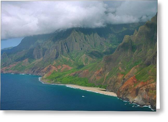 Napali Greeting Cards - Napali Coast - Kauai Greeting Card by Stephen  Vecchiotti