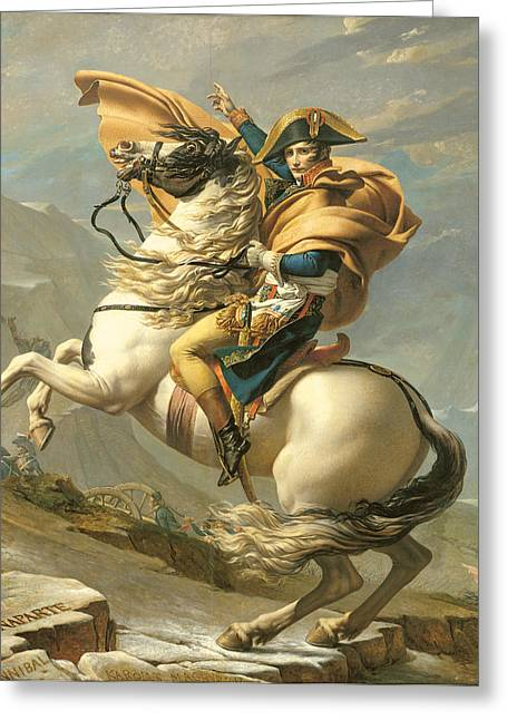 Napoleon Greeting Card by Jacques Louis David