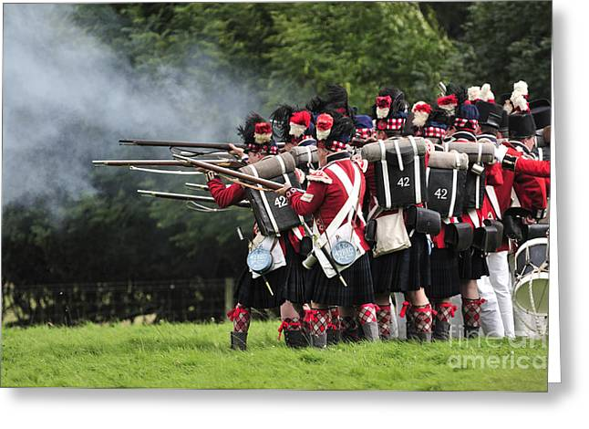 Re-enactment Greeting Cards - Napoleonic Battle Greeting Card by Andy Smy
