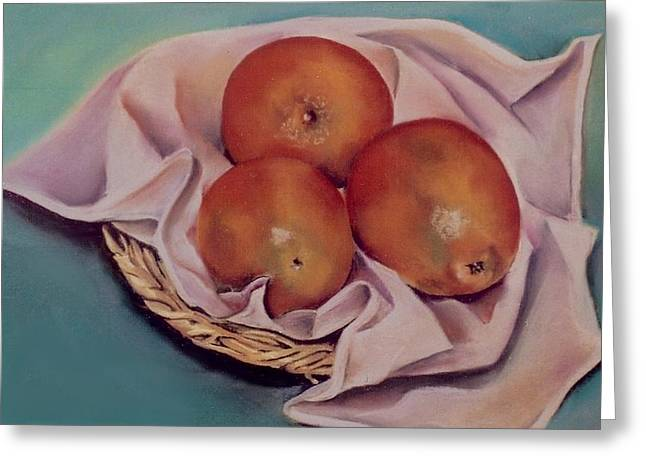 Dallas Pastels Greeting Cards - Naranjas Greeting Card by Diana Moya