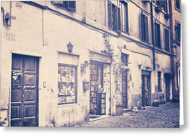Trastevere Greeting Cards - narrow street in Rome Greeting Card by Joana Kruse