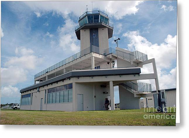 Traffic Control Greeting Cards - Nasa Air Traffic Control Tower Greeting Card by Nasa