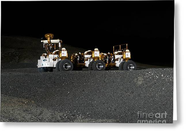 Roving Greeting Cards - Nasas New Lunar Truck Prototype Greeting Card by Stocktrek Images