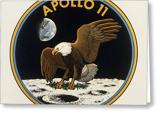 Apollo Program Greeting Cards - Nasas Official Emblem For The Apollo 11 Greeting Card by NASA / Science Source