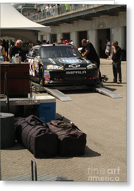 Leicht Greeting Cards - Nascar Inspection 42 Greeting Card by Roger Look