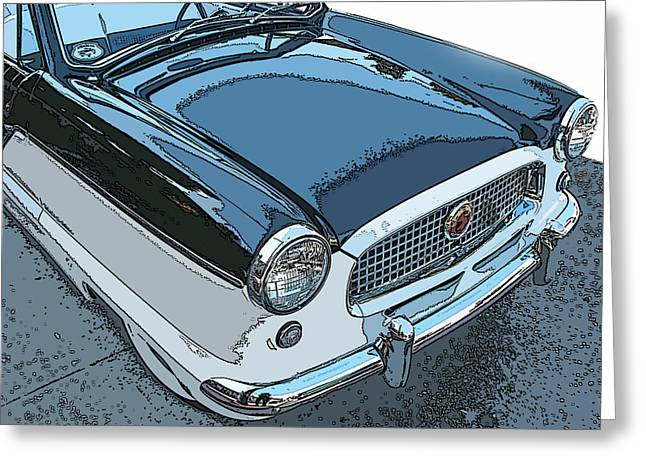 Samuel Sheats Greeting Cards - Nash Metropolitan Series IV Nose Study Greeting Card by Samuel Sheats