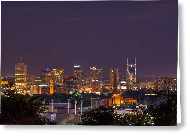 Nashville Tennessee Greeting Cards - Nashville by Night 3 Greeting Card by Douglas Barnett