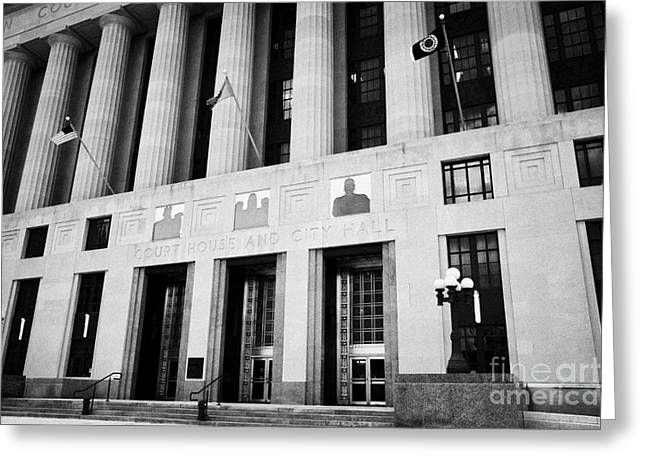 Nashville city hall davidson county public building and court house Tennessee USA Greeting Card by Joe Fox