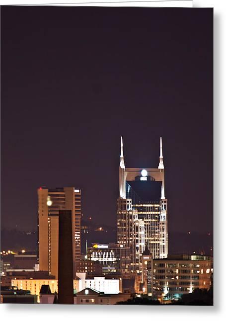 Nashville Tennessee Greeting Cards - Nashville Cityscape 6 Greeting Card by Douglas Barnett