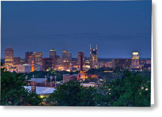 Nashville Tennessee Greeting Cards - Nashville Cityscape 7 Greeting Card by Douglas Barnett