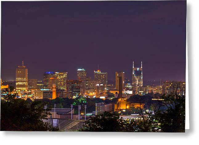 Nashville Tennessee Greeting Cards - Nashville Cityscape 9 Greeting Card by Douglas Barnett