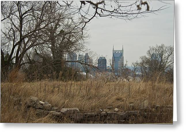 Nashville Skyline From The Fort Greeting Card by Douglas Barnett