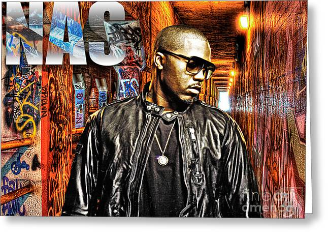 Na Greeting Cards - Nasir Jones Greeting Card by The DigArtisT