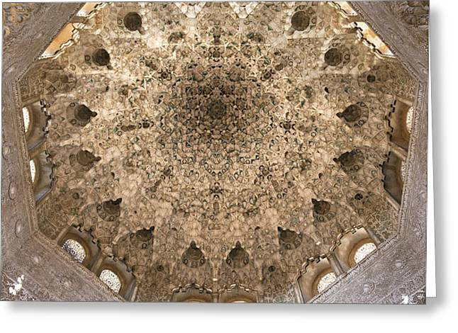 Nasrid Palace ceiling Greeting Card by Jane Rix