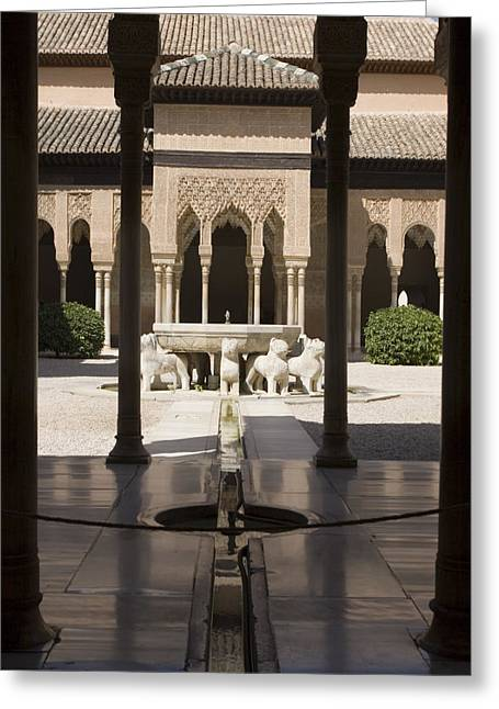Alhambra Greeting Cards - Nasrid Palaces Alhambra Granada Spain Europe Greeting Card by Mal Bray