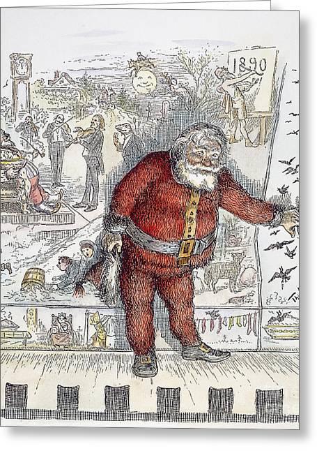Nast Greeting Cards - Nast: Santa Claus, 1890 Greeting Card by Granger