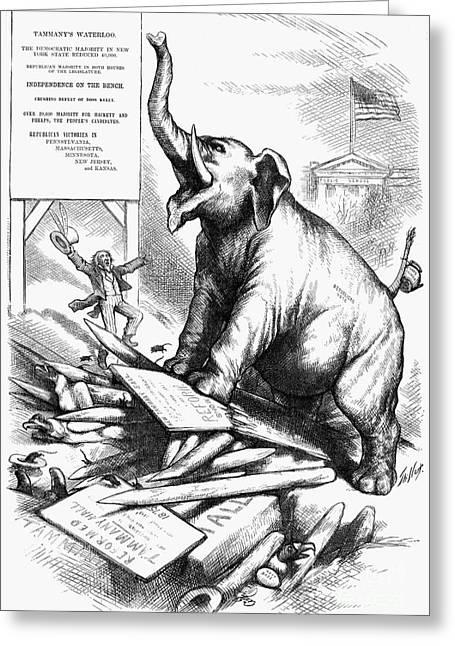Nast Greeting Cards - Nast: Tweed Cartoon, 1875 Greeting Card by Granger