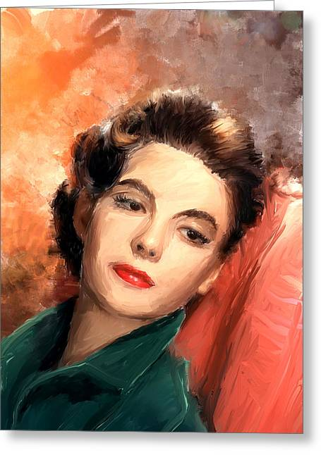 Natalie Wood Greeting Card by Scott Melby