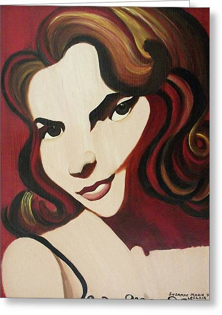 Starlet Paintings Greeting Cards - Natalies Gone Greeting Card by Suzanne  Marie Leclair