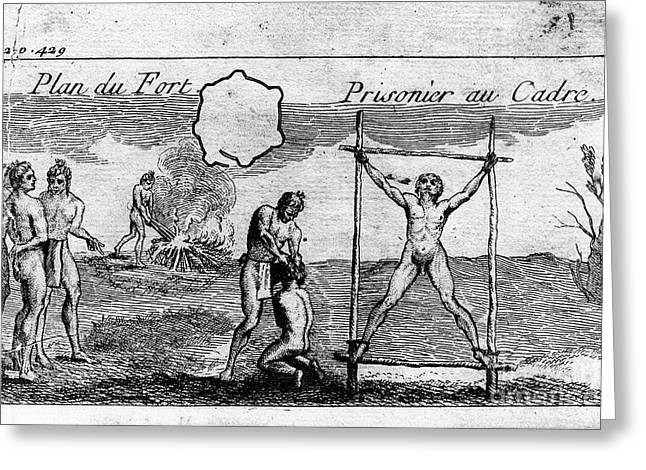 Pages Of Life Photographs Greeting Cards - NATCHEZ PUNISHMENT, c1725 Greeting Card by Granger