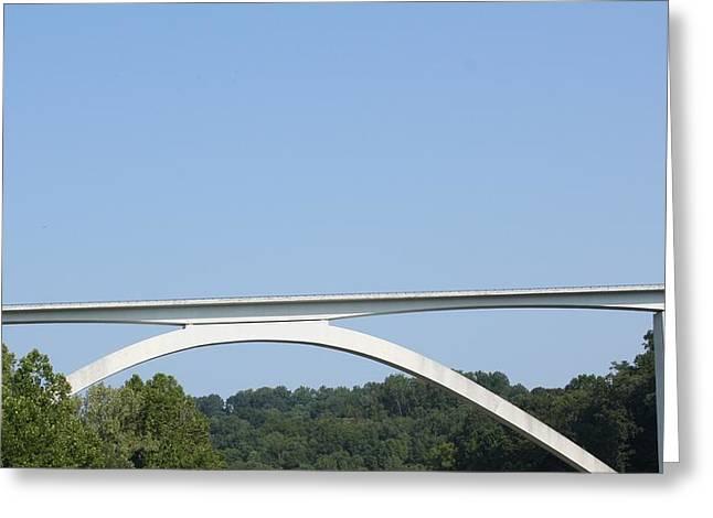 Natchez Trace Bridge Greeting Card by James Collier