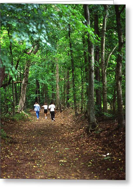 Natchez Trace Parkway Greeting Cards - Natchez Trace Walkers Greeting Card by Randy Muir