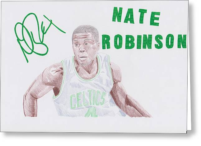 Boston Celtics Drawings Greeting Cards - Nate Robinson Greeting Card by Toni Jaso