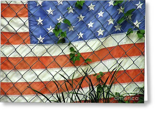 Patriotic Photography Greeting Cards - Nation in Distress Greeting Card by Joe Jake Pratt