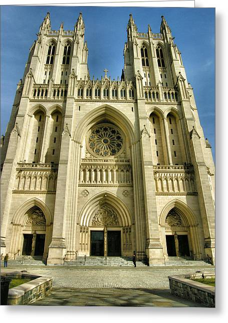 Christian Note Cards Greeting Cards - National Cathedral III Greeting Card by Steven Ainsworth