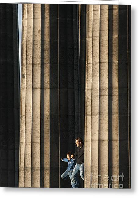 British Portraits Greeting Cards - National Monument on Calton Hill Greeting Card by Andrew  Michael