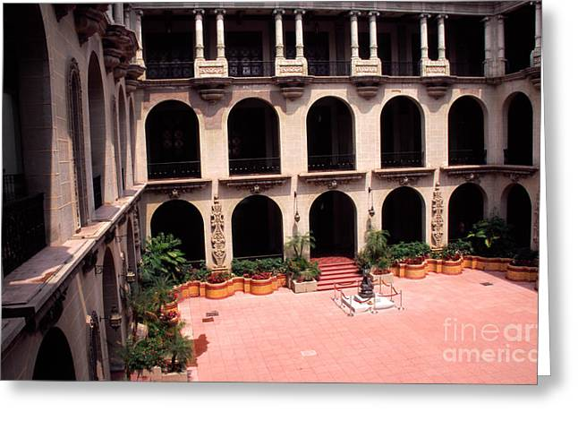 Privilege Greeting Cards - National Palace Guatemala Greeting Card by Thomas R Fletcher