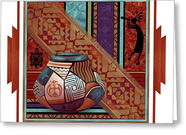 Native American Theme Greeting Cards - Native 1 Greeting Card by Michele Wojcicki