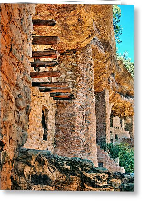 Native American Dwellings Greeting Cards - Native American Cliff Dwellings Greeting Card by Jill Battaglia