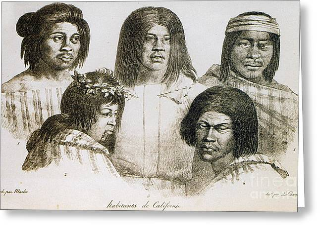 Neophyte Greeting Cards - Native American Converts, California Greeting Card by Photo Researchers
