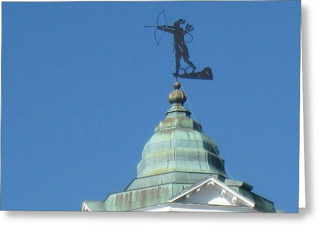 Weathervane Greeting Cards - Native American Greeting Card by Maggie Tear