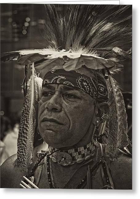 Native American Portraits Photographs Greeting Cards - Native American Greeting Card by Robert Ullmann